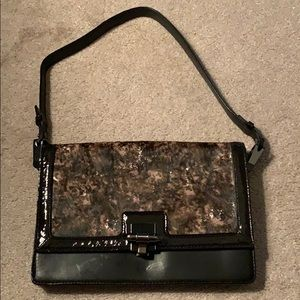 Monika Chiang Leather and Half Calf Shoulder Bag